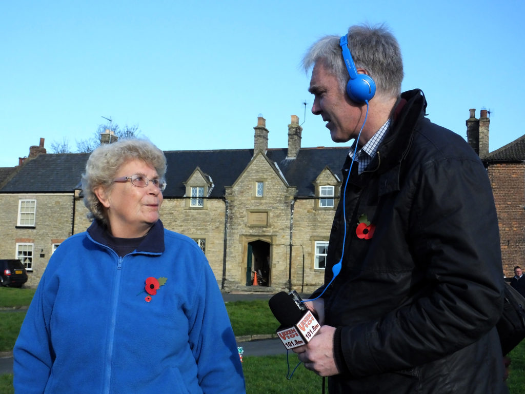 Radio Humberside speaks to Trixie Gatenby, the daughter of a Newbald soldier who fought in the Second World Wars to