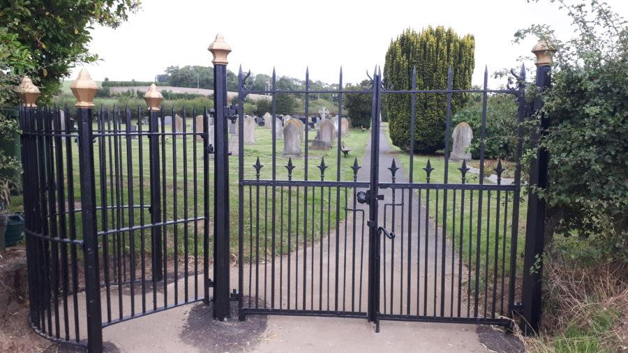 Newbald cemetery gates
