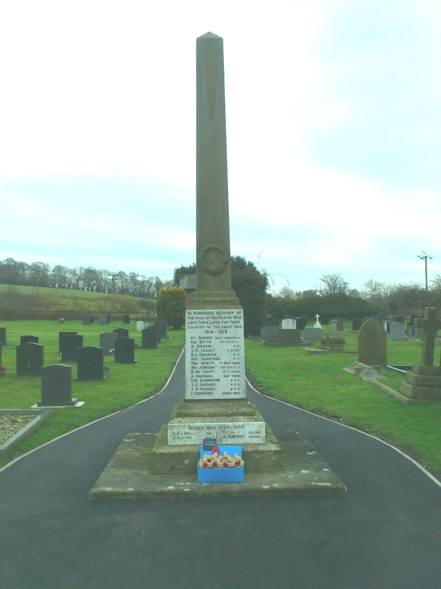 War memorial in cemetery