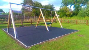 photo of Swings at Newbald showing Wetpour surface