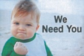 We Need You Logo