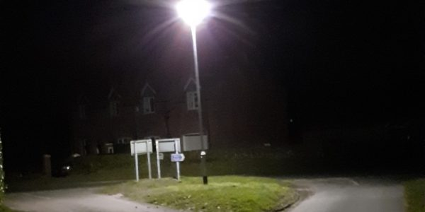 New Streetlight On South Newbald Road