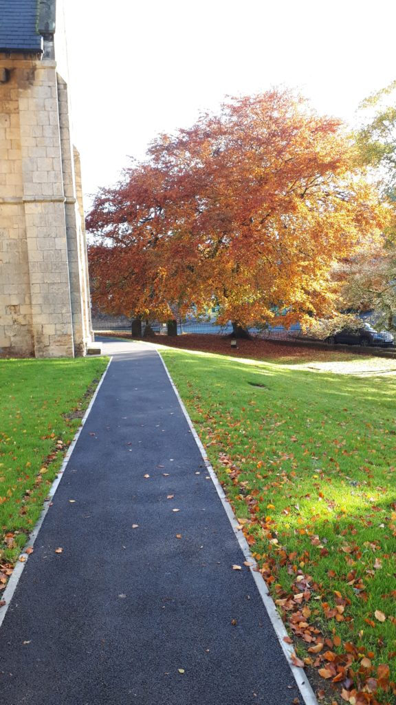 Recently Relaid Path Churchyard